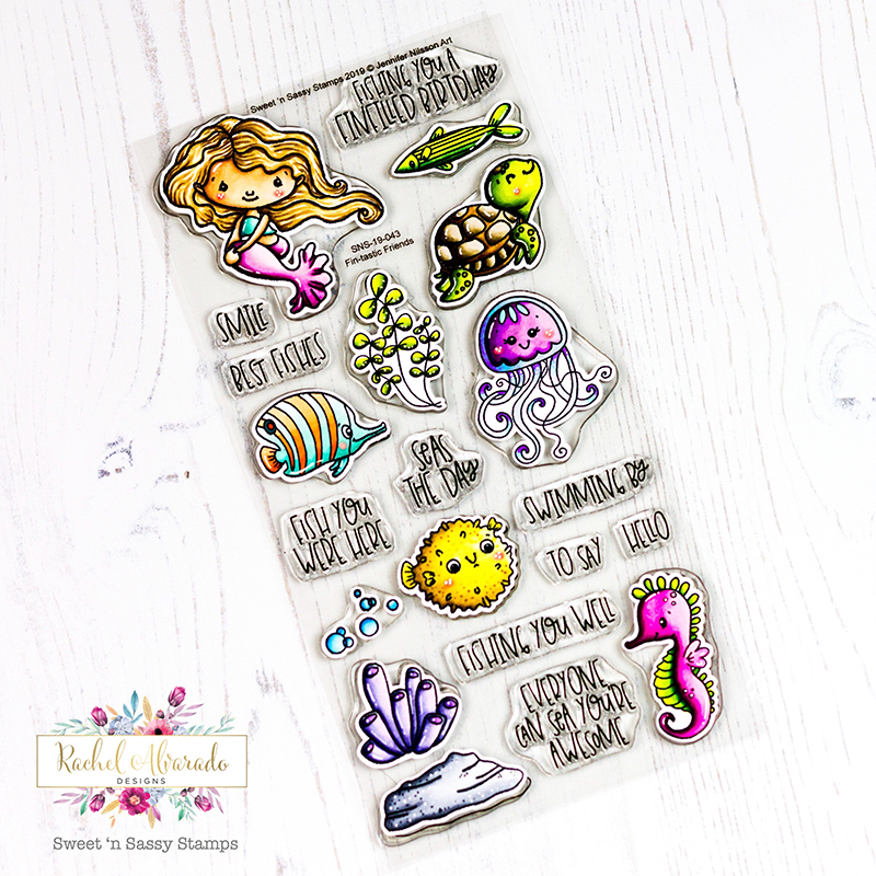 Fin-tastic Friends and Over the Moon Clear Stamp Sets | Sweet 'n
